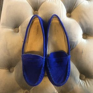 Merona blue suede flats barely worn size 7 1/2